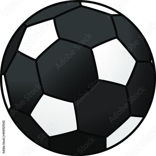 Fotomural A black soccer ball.