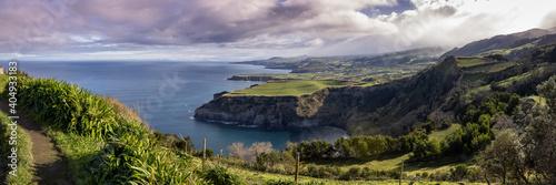 Fotografie, Obraz Great landscape, at the Azores islands, viewpoint Santa Iria.