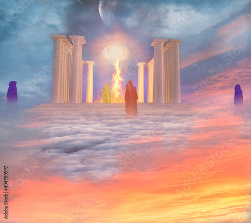 Fototapeta Temple of Fire and Mystic Priests