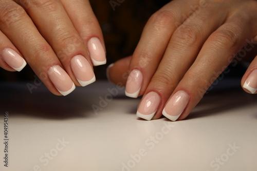 Fotografie, Obraz fashion manicure of nails on a beautiful background