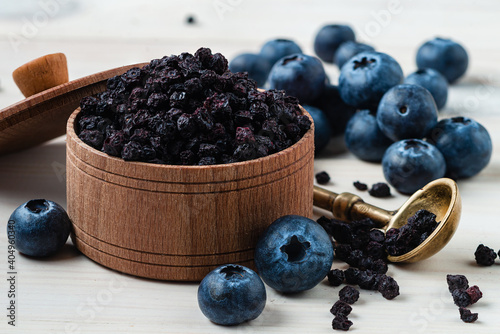 Fotomural Antioxidant rich Blueberry made dried super food and hand picked wild Nordic ber
