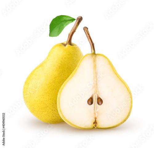 Obraz na plátně Isolated pears