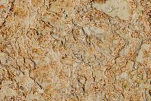 Stone Texture In Pamukkale Resort, Limestone Terrace Floor.