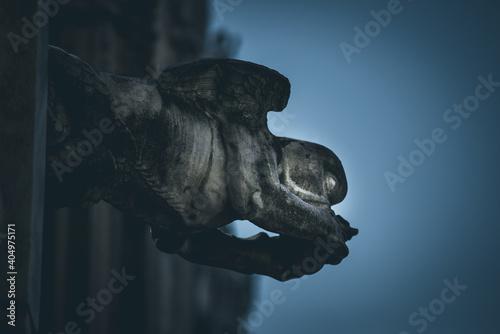 Fotografija Close-up Of Gargoyle Statue At Milan Duomo