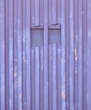 Blue And Purple Metal Gate