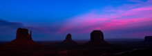 Scenic View Of Silhouette Rocks Against Sky During Sunset
