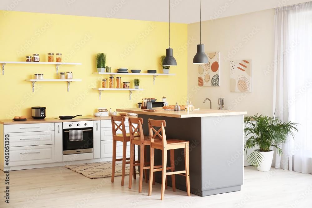 Fototapeta Interior of modern comfortable kitchen
