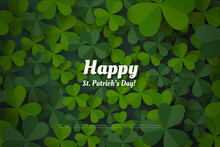 St Patrick's Day Background With Green Leaves.