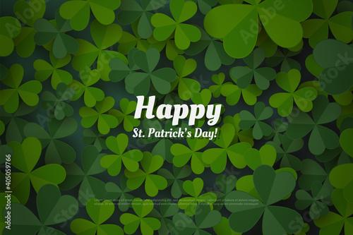 Obraz st patrick's day background with green leaves.  - fototapety do salonu