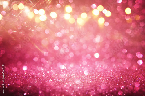 purple and pink glitter vintage lights background. defocused - fototapety na wymiar