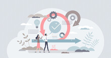 Scrum Agile Framework Plan As Software Development Method Tiny Person Concept