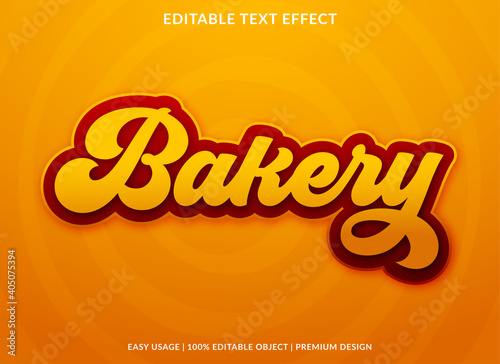 Fotografie, Obraz bakery text effect with bold style use for product brand and business logo