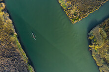 Aerial View Of A Kayak, In Ria De Aveiro, Portugal