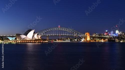 Illuminated City At Waterfront © patrick hennies/EyeEm