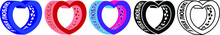 3d Heart With The Inscription On The Side In Russian I Love You On A White Background