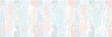 Beautiful Seamless Pattern With Nude Pastel Watercolor Stripes. Hand Painted Brush Strokes. Background Romantic Design. For Greeting Cards And Invitations Of The Wedding, Birthday, Valentine's Day