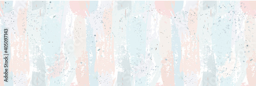 Obraz Beautiful seamless pattern with nude pastel watercolor stripes. hand painted brush strokes. Background romantic design. for greeting cards and invitations of the wedding, birthday, Valentine's Day - fototapety do salonu