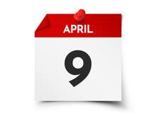 April 9 Day Calendar