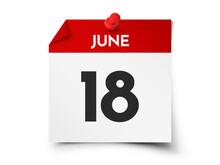 June 18 Day Calendar