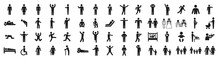 People Pictogram Set In Various Poses
