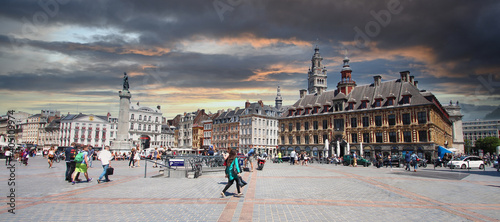 Lille (France) / Grand Place Fototapeta