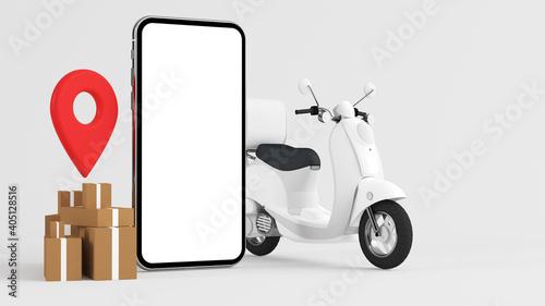 Order online delivery concept