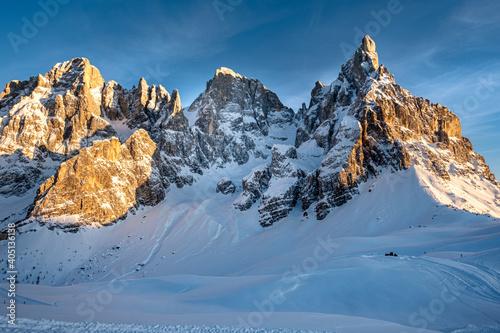 Canvas Print Trentino, tramonto sulle Dolomiti