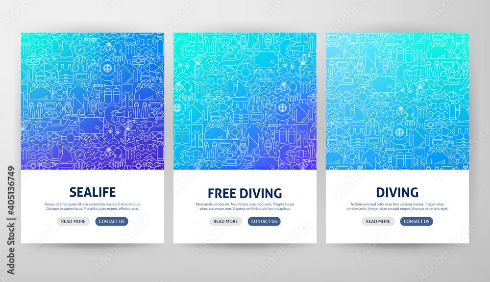Obraz Diving Flyer Concepts fototapeta, plakat