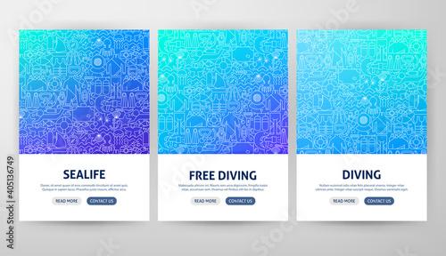 Fototapeta Diving Flyer Concepts obraz