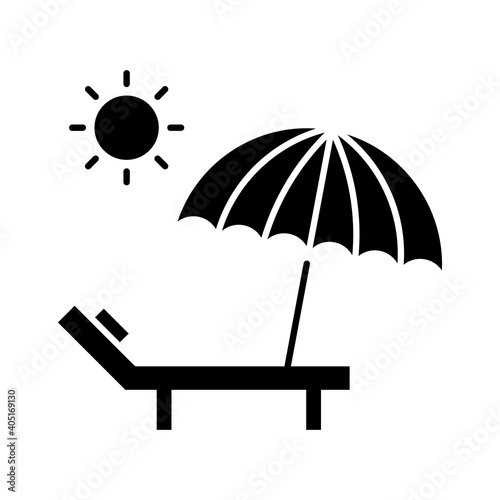 Fotografie, Tablou Sunbed Icon