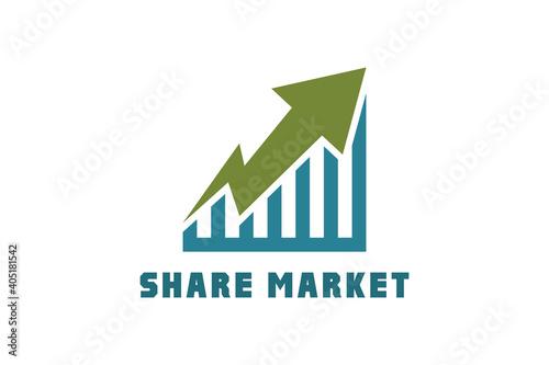 Obraz na plátně Business graph Market Trend
