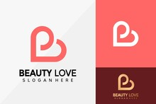 Letter B Love Logo Design, Brand Identity Logos Vector, Modern Logo, Logo Designs Vector Illustration Template