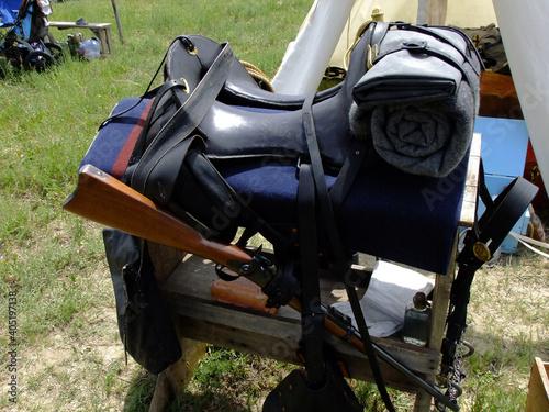 Billede på lærred Replicated 19th century Cavalry gear.