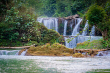 A Small Waterfall In The Northwest Region Of Vietnam