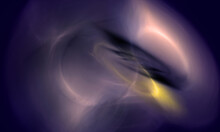 Abstract Artificial Substance Or Cosmic Process In Purple And Yellow Hues. Micro Or Macro Cosmos. Far Galaxy Or Mysterious Unknown Life. Great As Banner, Art Or Background Design.