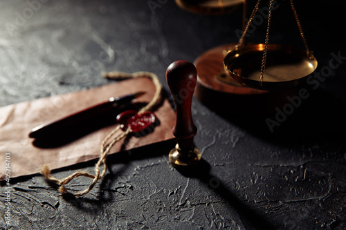 Fototapeta Law and justice concept
