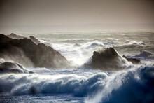 Tempête Sur La Côte Sauvage à Quiberon