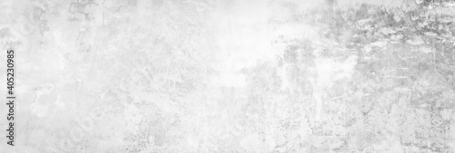 Fotomural Panoramic grey paint limestone texture background in white light seam home wall paper