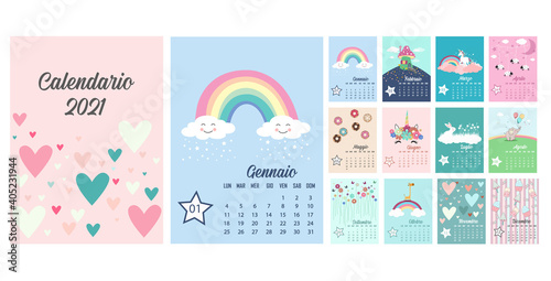 Fototapeta Calendario 2021