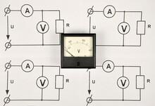 Black Voltmeter And Electrical Diagrams.