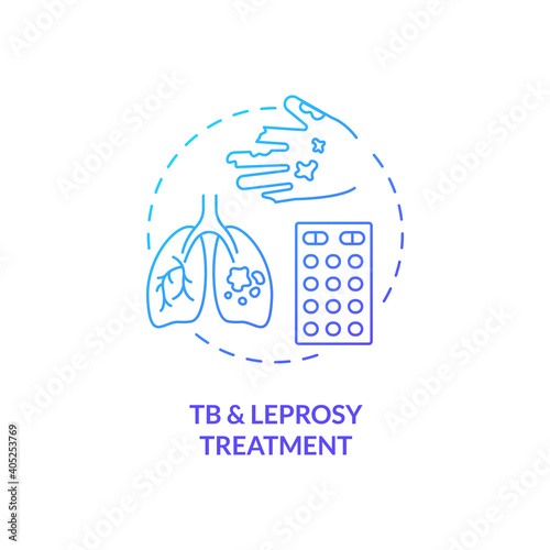 Fotografie, Obraz Tuberculosis and leprosy treatment concept icon