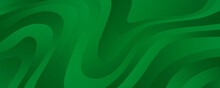 Geometric Green Background With Diagonal Stripes And Gradients. Vector Minimalist Backdrop For Traditional Irish St. Patrick Day