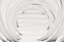 Studio Shot Of White Arched Tubes