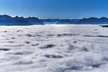LakeÔøΩWalchen Shrouded In Thick White Fog