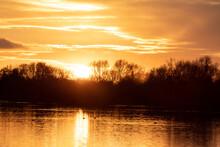 Sunset Before Lockdown In Branston Water Park In Burton On Trent England