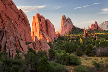USA, Colorado, Colorado Springs, Garden Of Gods, Rock Formations