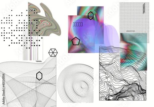 Fototapeta Modern Gothic Design Elements Illustration Set obraz