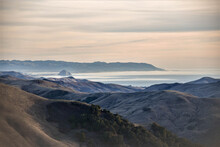 This Is A Photo That I Took Of Morro Bay, CA Just Before Sunset On An Over Look About 7 Miles From The Bay.