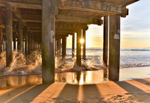 Beneath The Pier Just Before Sunset,
