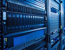 Rack Of Servers In Data Center Server Room